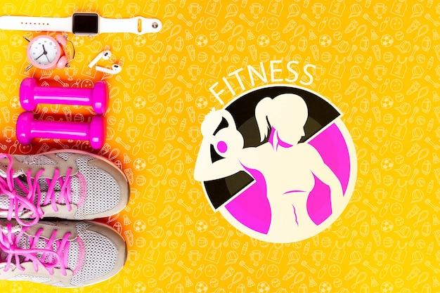 Appareils De Fitness Et Mesure Du Temps Psd gratuit