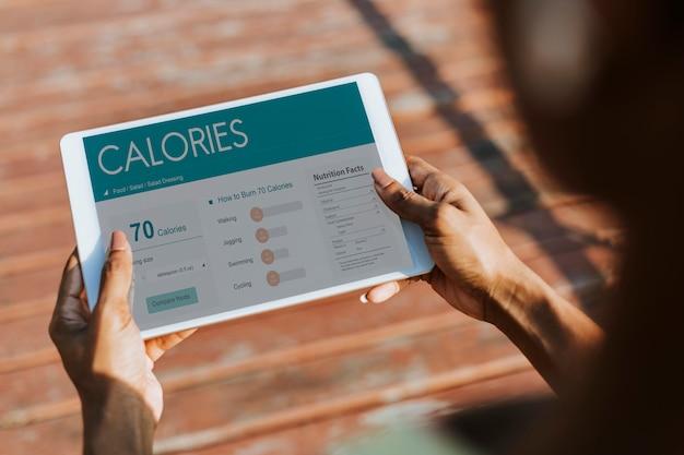 Application de mesure de calories Psd gratuit