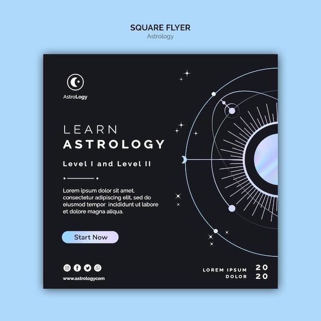Apprendre Le Dépliant Carré De L'astrologie Psd gratuit