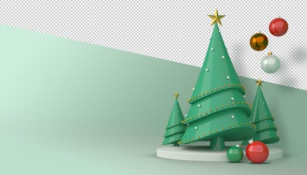 Arbre De Noël Et Coffret Cadeau Rendu 3d PSD Premium