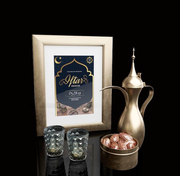 Arrangement Du Nouvel An Islamique Avec Des Dates Séchées Psd gratuit