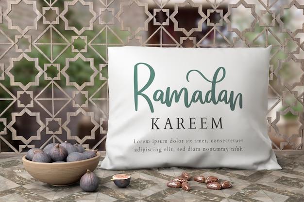 Arrangement Du Nouvel An Musulman Avec Des Figues Et Un Oreiller Psd gratuit