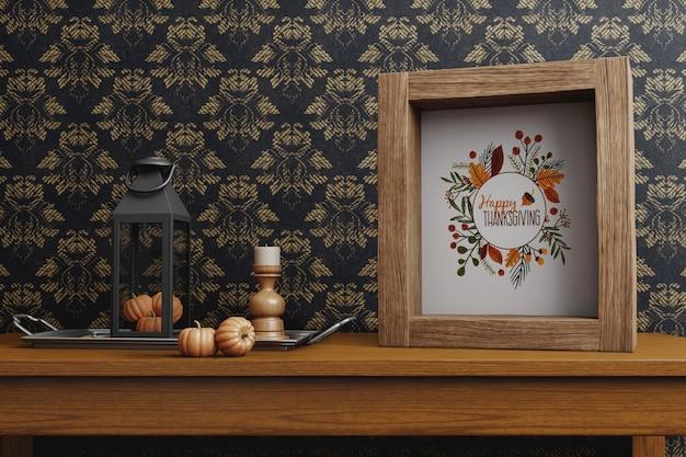 Arrangements de célébration de thanksgiving Psd gratuit