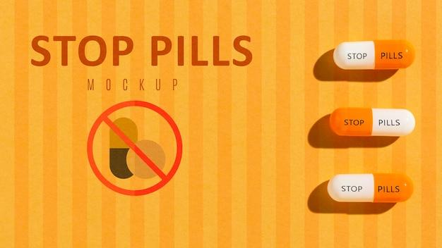 Arrêtez La Dépendance Aux Pilules Avec Une Maquette Psd gratuit