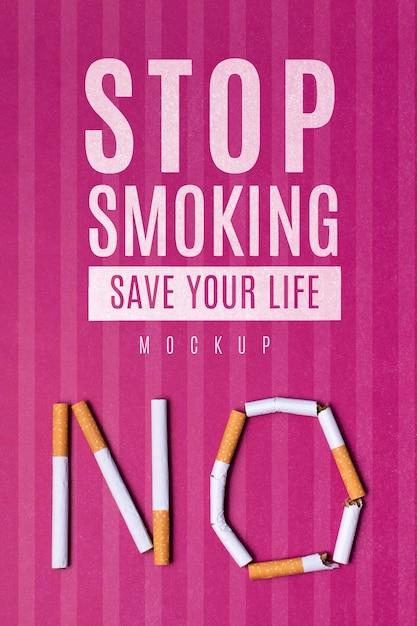 Arrêtez De Fumer, Sauvez Votre Vie Avec La Maquette Psd gratuit