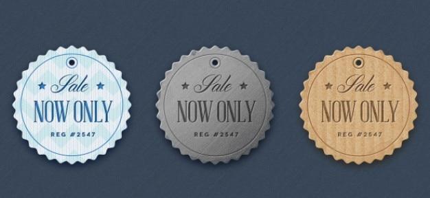 Badges de tissu dans le style rétro Psd gratuit