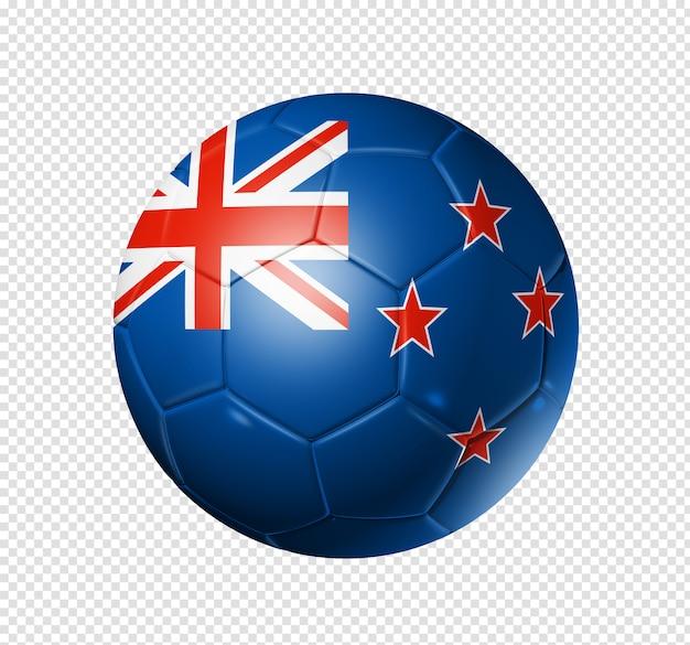 Ballon De Football Soccer Avec Le Drapeau De La Nouvelle-zélande PSD Premium