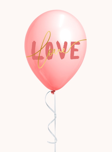 Ballon Saint Valentin Psd gratuit