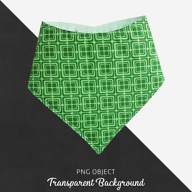 Bandana à motifs vert pour bébé ou enfants sur fond transparent PSD Premium
