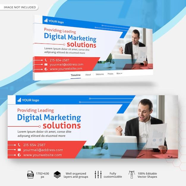 Bannière De Couverture Facebook Entreprise Marketing PSD Premium