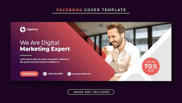Bannière De Couverture Facebook De Promotion Marketing D'entreprise Et Numérique PSD Premium