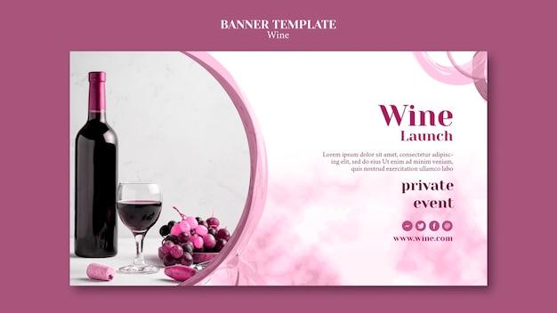 Bannière De Dégustation De Vin Psd gratuit