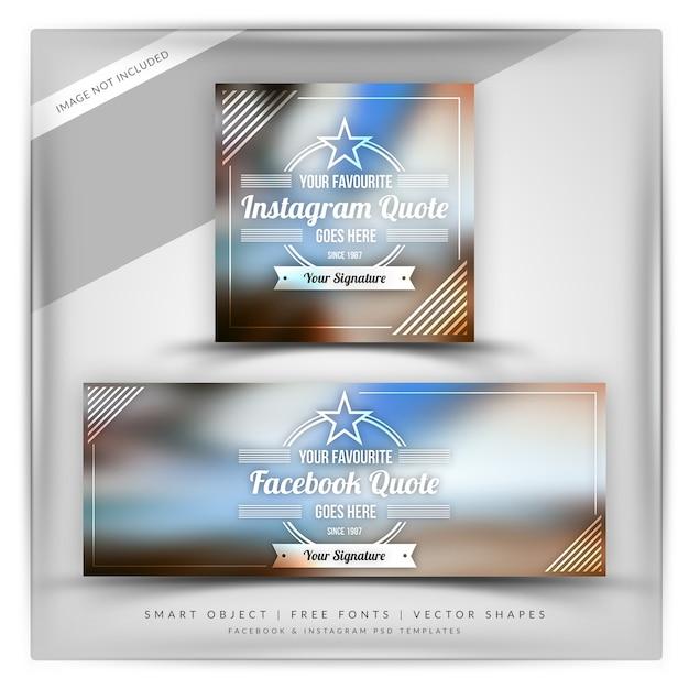 Bannière de devis instagram et facebook PSD Premium