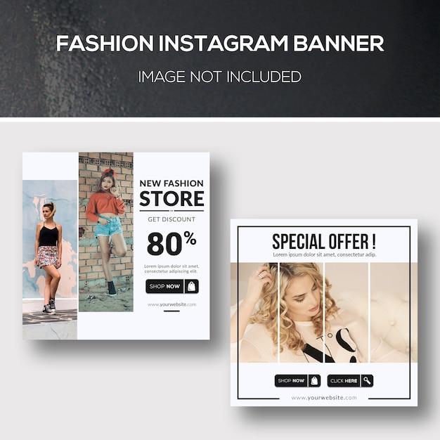 Bannière fashion instagram PSD Premium