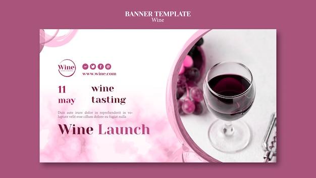 Bannière Horizontale Pour Dégustation De Vins Psd gratuit