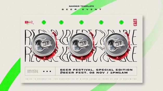 Bannière Horizontale Pour Le Festival De La Bière Psd gratuit