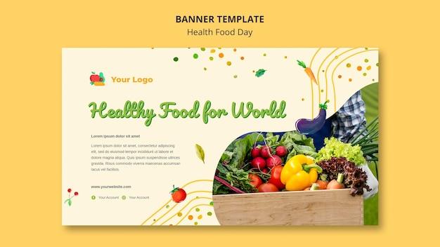 Bannière De La Journée Des Aliments Santé Psd gratuit