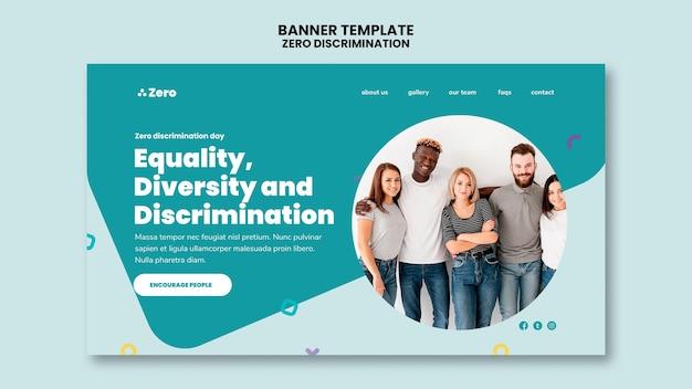 Bannière De La Journée Zéro Discrimination Psd gratuit