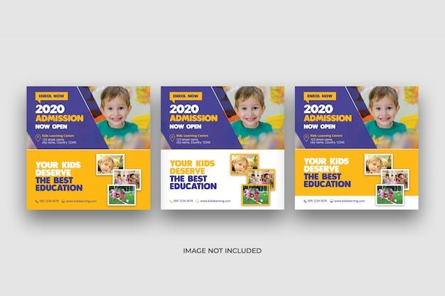 Bannière De Médias Sociaux Et Modèle De Flyer Carré PSD Premium