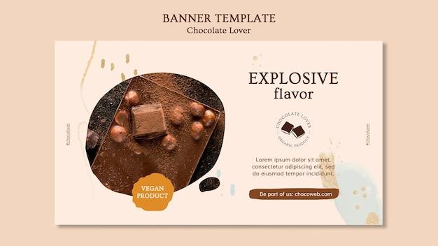 Bannière De Modèle D'amant De Chocolat Psd gratuit