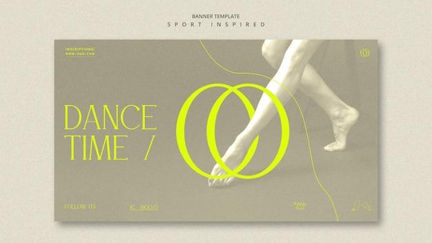 Bannière De Modèle D'annonce D'académie De Danse Psd gratuit