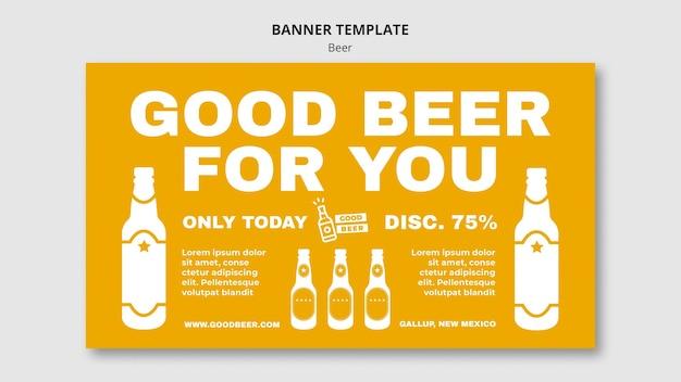 Bannière De Modèle De Fête De Bière Psd gratuit