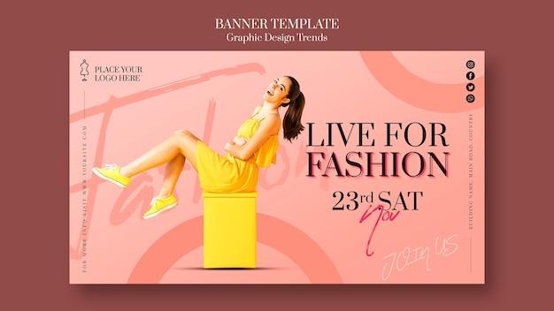 Bannière De Modèle De Promotion De Magasin De Mode Psd gratuit
