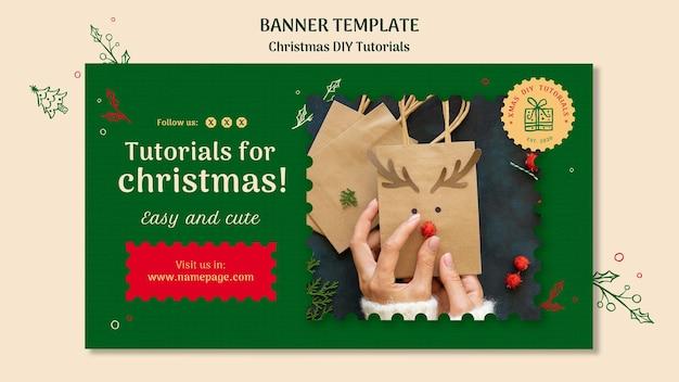 Bannière De Modèle De Tutoriel De Noël Bricolage Psd gratuit