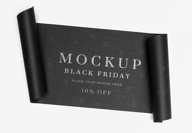 Bannière Noire Maquette Vendredi Noir Psd gratuit