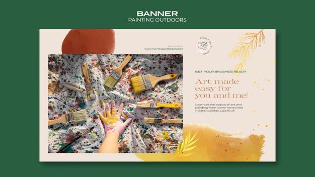 Bannière Peinture à L'extérieur Du Modèle D'annonce Psd gratuit