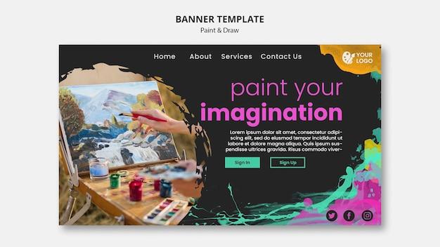 Bannière Pour Les Artistes Dessin Et Peinture Psd gratuit