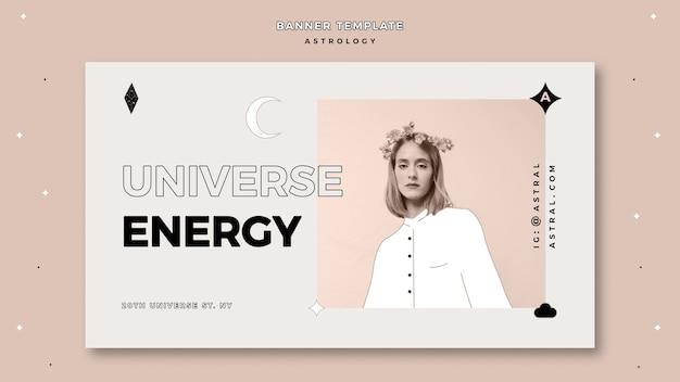 Bannière Pour L'astrologie Psd gratuit