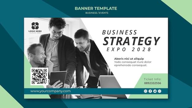 Bannière Pour L'expo D'entreprise Psd gratuit