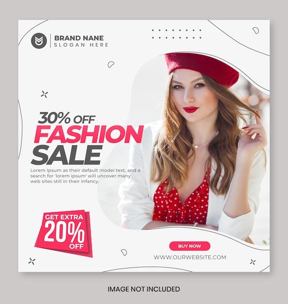 Bannière De Promotion De Vente De Mode PSD Premium