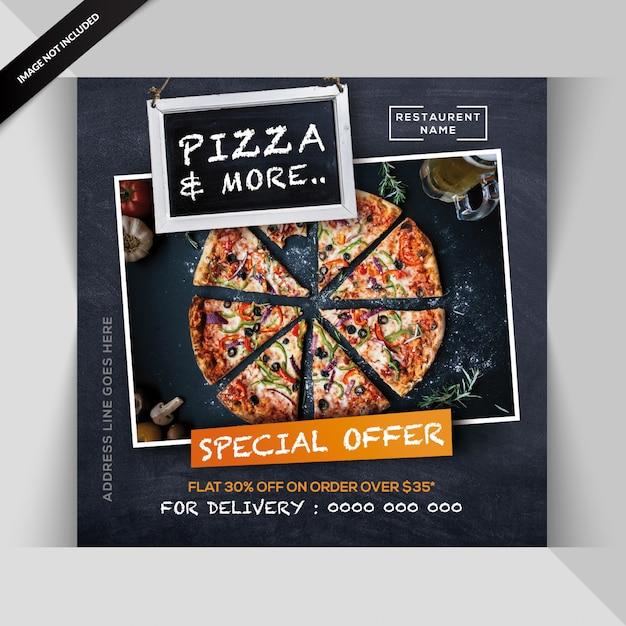 Bannière de restaurant italien ou poste pour instagram PSD Premium