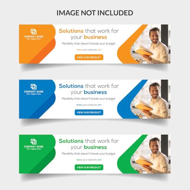 Bannière web entreprise PSD Premium