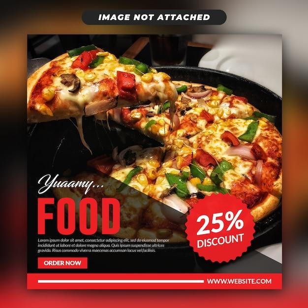Bannière Web Social Instagram Food PSD Premium