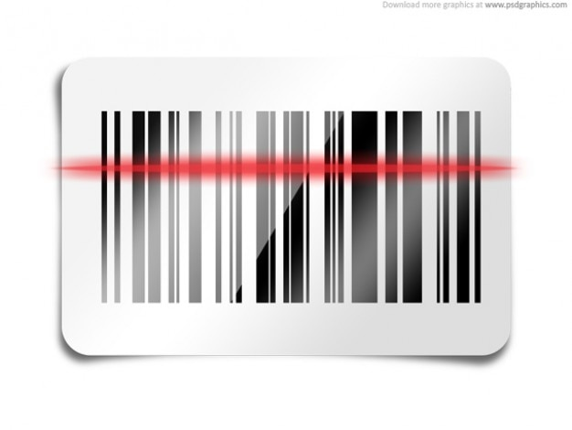 Barcode scanner icône (psd) Psd gratuit
