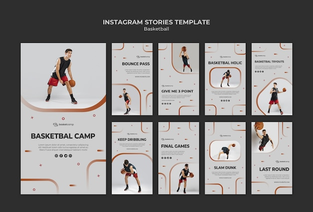 Le Basket-ball Est Ma Passion Histoires Instagram Psd gratuit