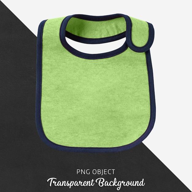 Bavoir bébé vert sur fond transparent PSD Premium