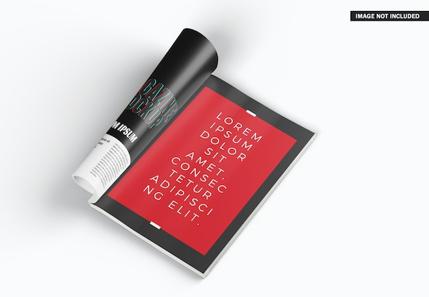 Beau Design De Maquette De Magazine Isolé PSD Premium