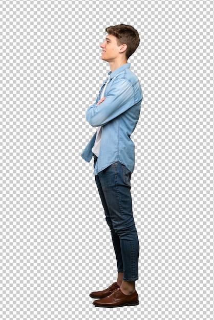 Beau Jeune Homme En Position Latérale PSD Premium