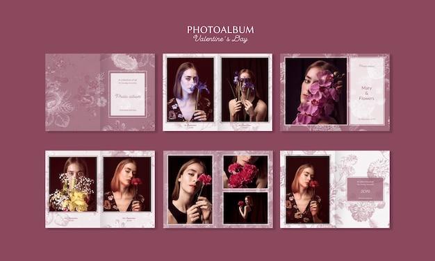 Bel Album Photo De La Saint-valentin Psd gratuit