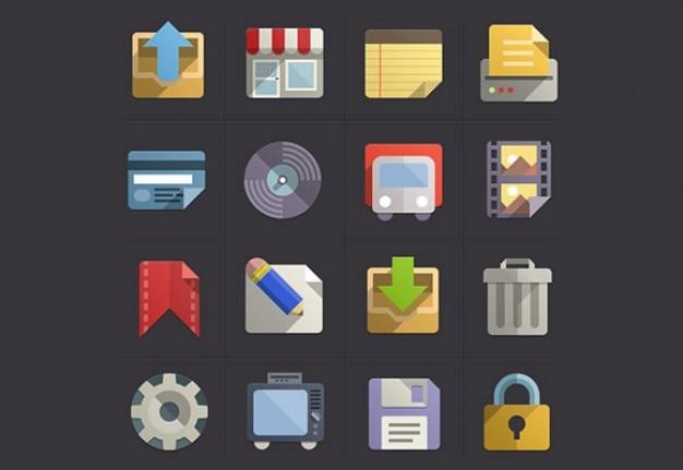 Bel ensemble d'icône psd Psd gratuit
