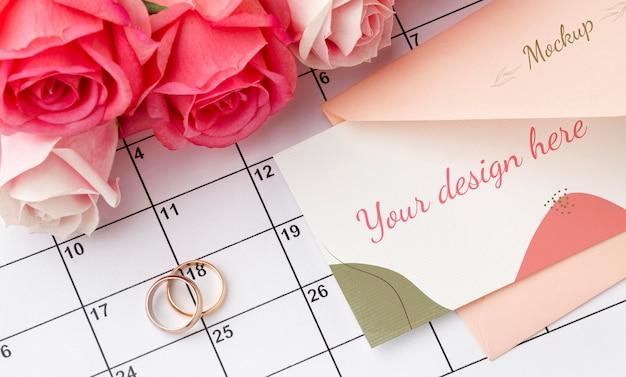 Belle Maquette De Concept De Mariage Floral Psd gratuit
