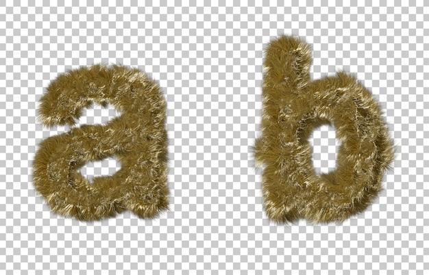 Blonde Fourrure Lettre A Et Lettre B PSD Premium