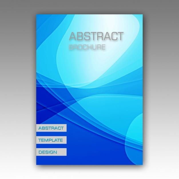 Blue Abstract Conception De La Brochure Psd gratuit