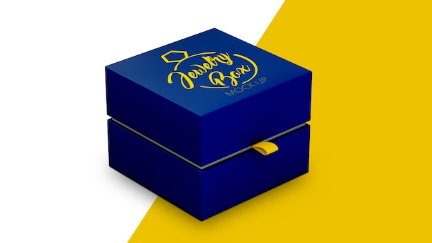 Boîte à Bijoux Isolée, Maquette PSD Premium