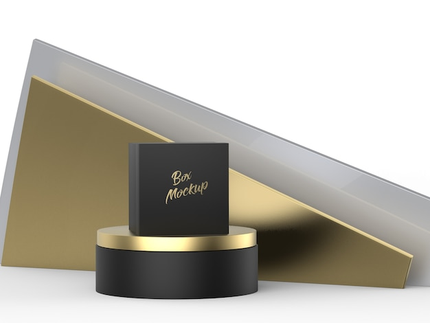 Boîte De Luxe De Maquette De Logo PSD Premium