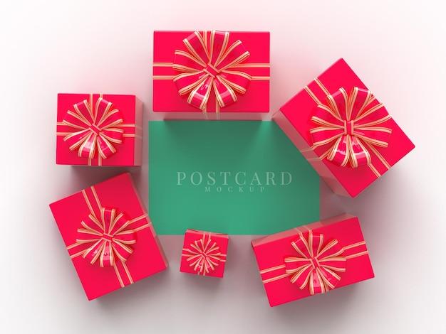 Bonne Fête De Célébration De La Saint-valentin Avec Des Décorations De Boîte-cadeau PSD Premium